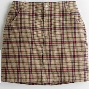 Nwt Hollister ultra high rise flannel plaid skirtL